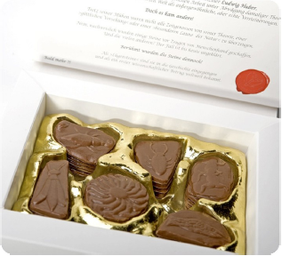A chocolate treasure for lovers of finest milk chocolate