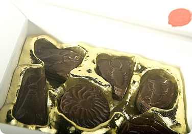 A delicious temptation made of dark chocolate